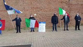 Il presidio di Fratelli d'Italia