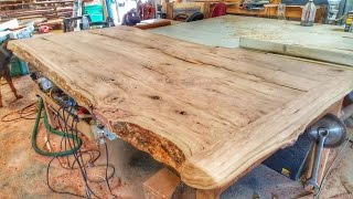 From the cherry tree to a live edge, breadboard end, table. Just a quick video show the process from start to finish. A note about the