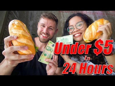Eating For LESS THAN $5 In 24 Hours | Eating Challenge Vietnam