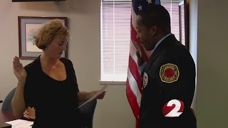 Beavercreek Township swears in first full-time African American firefighter