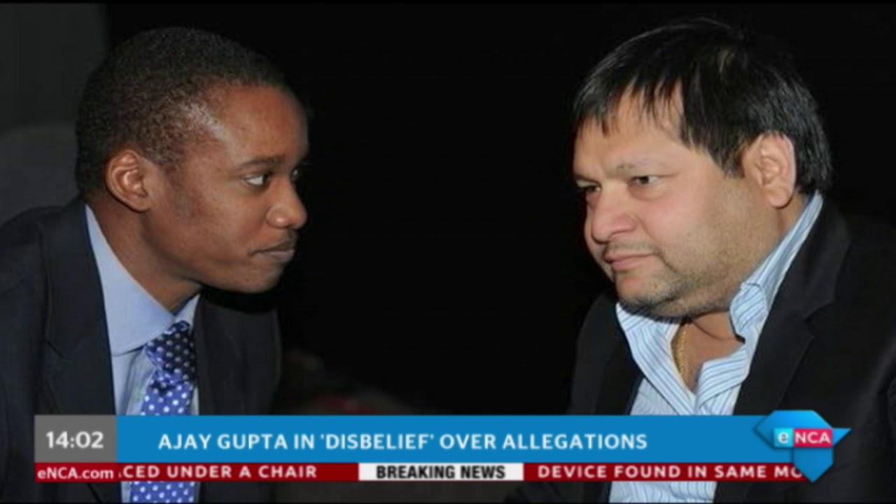 Ajay Gupta in 'disbelief' over allegations