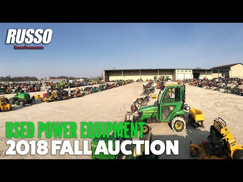 Fall Used Equipment Auction