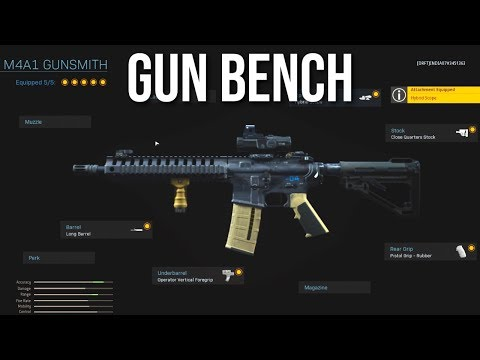 Gun Bench Explained (Call of Duty: Modern Warfare Multiplayer Gameplay)