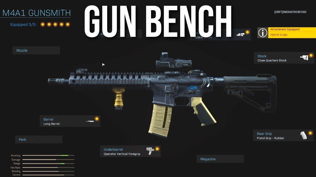 Gun Bench Explained Call Of Duty Modern Warfare Multiplayer Gameplay Youtube