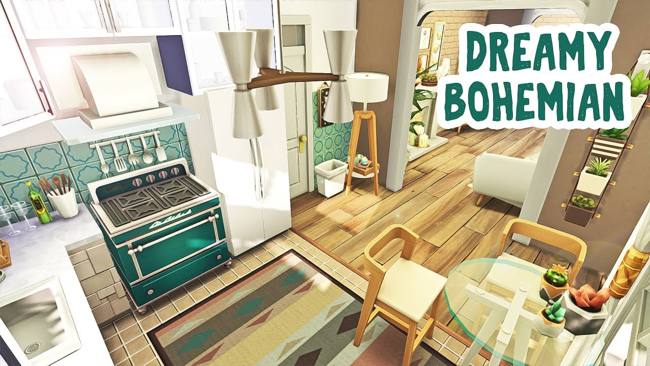 Dreamy Bohemian Apartment 🌱 || The Sims 4 Apartment ...