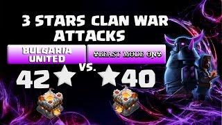 coc clan war th11 vs th11 beast mode on 2 x 3 stars