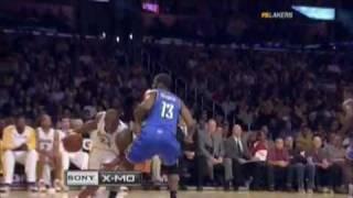 kobe bryant shot behind the basket