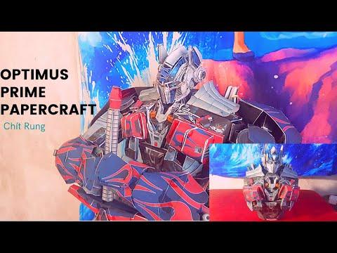 Chít Rung Làm mô hình giấy Robot Đại chiến 70cm Optimus Prime Aoe [ Transformers ]