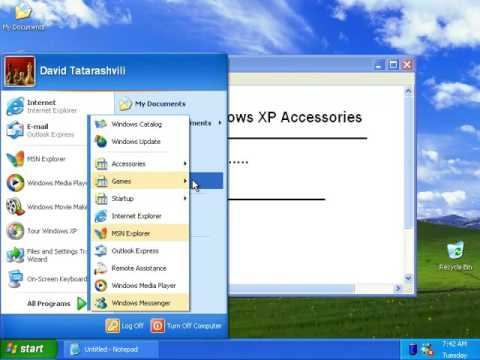 Windows XP: Accessories