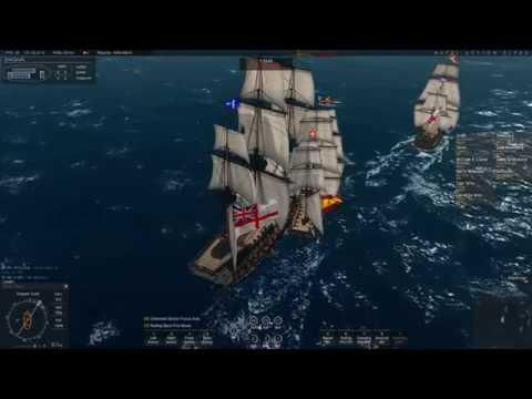 Naval Action: 18 Spanish vs 14 British at Port Morant (Totally Destroyed) 12.08.2016