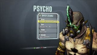 Borderlands 2 All Psycho DLC Heads and Skins (Supremacy, Madness and Domination)