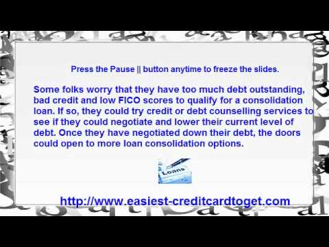 Bad Credit Debt Consolidation Loans - An Overview