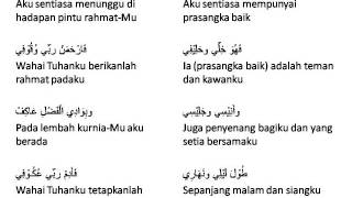 Qad Kafani lirik Malay