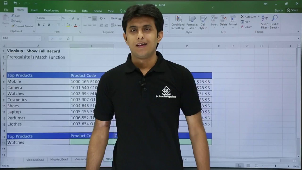 MS Excel - Lookup Full Record