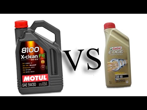 motul 8100 x clean fe 5w30 vs castrol edge turbo diesel 5w40 test oil engine youtube. Black Bedroom Furniture Sets. Home Design Ideas
