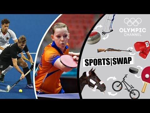 Table Tennis vs Hockey   Brit Eerland & Blair Tarrant Change Sports   Sports Swap