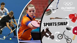 Table Tennis vs Hockey | Brit Eerland & Blair Tarrant Change Sports | Sports Swap