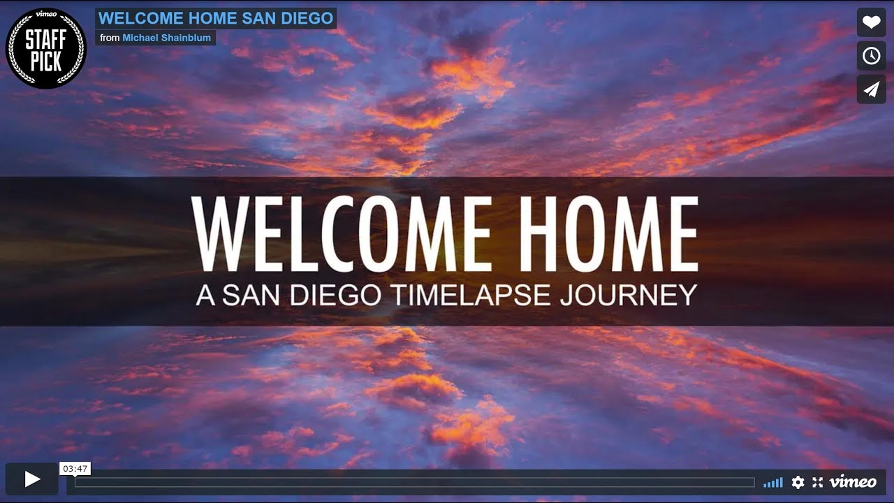 WELCOME HOME TIMELAPSE