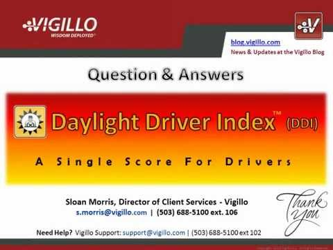 Introducing Daylight Driver Index™ (DDI) A Single Score For Drivers