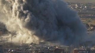 Raw: Smoke Rises Over Sinjar, Kurds Close In