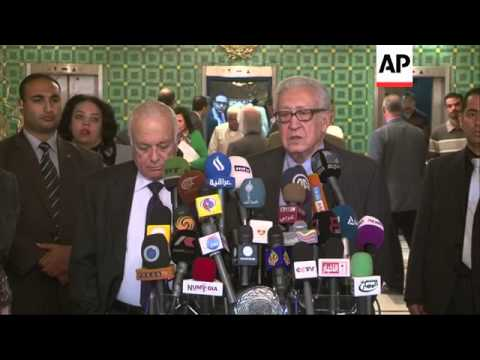 Arab League Chief Nabil Elaraby and UN-Arab League envoy to Syria