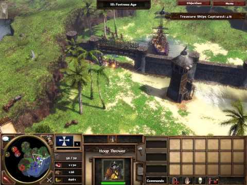 "Age of Empires III Walkthrough Act 1 Mission 7 ""Spanish Treasure Fleet"" - (No Commentary)"