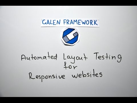 Galen Framework Introduction - Automated Layout Testing