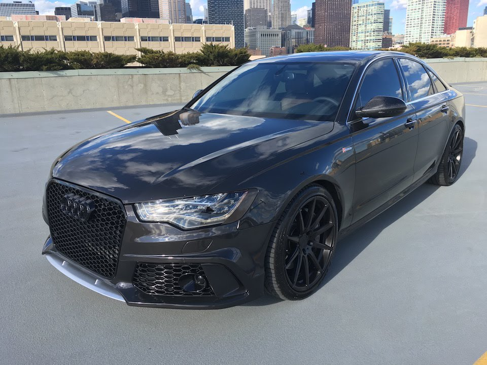 Audi RS6 Front Bumper installed on A6