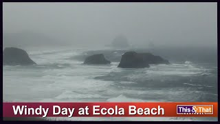 Windy Day at Ecola Beach