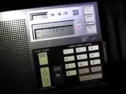 ICF-7600D receiving Zanzibar Broadcasting Corporation, 11735 Khz, Dole, Tanzania
