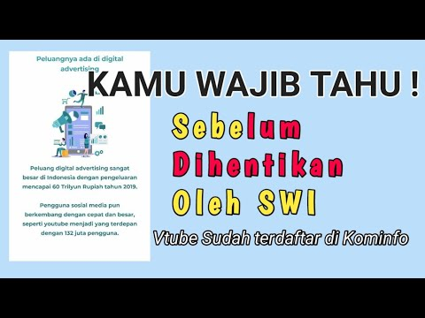 Benarkah Vtube Terdaftar Di Kominfo Hubungi Admin Kominfo Update Terbaru Nanti Kami Infokan Youtube