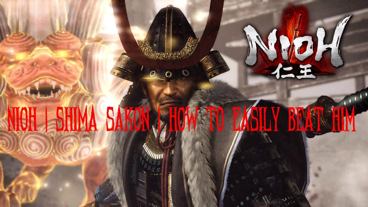 Download Nioh | Shima Sakon | Boss Fight | How To Easily Beat Him | level.255