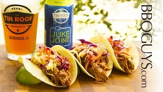 Pulled Pork Tacos Recipe - Beer Brined Pork Shoulder Smoked On A Primo Oval Xl Kamado