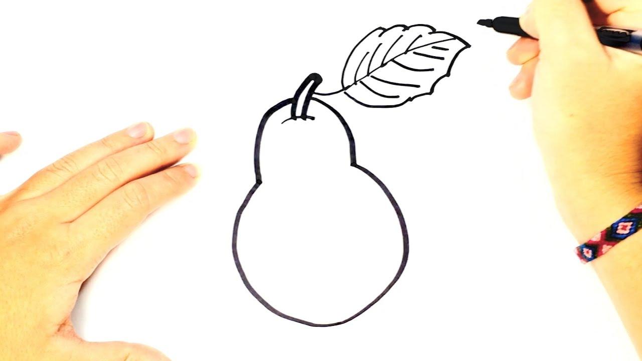 C mo dibujar una pera para ni os dibujo f cil de una - Dibujos unas de porcelana ...