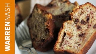 Banana Bread Recipe - With Chocolate Chips - Recipes By Warren Nash