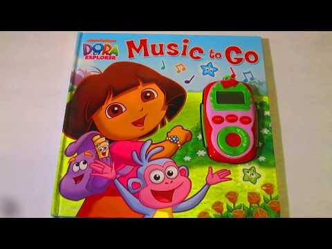"""Dora the Explorer """"Music to Go"""" Tunes Play-A-Song MP3 Interactive Book"""