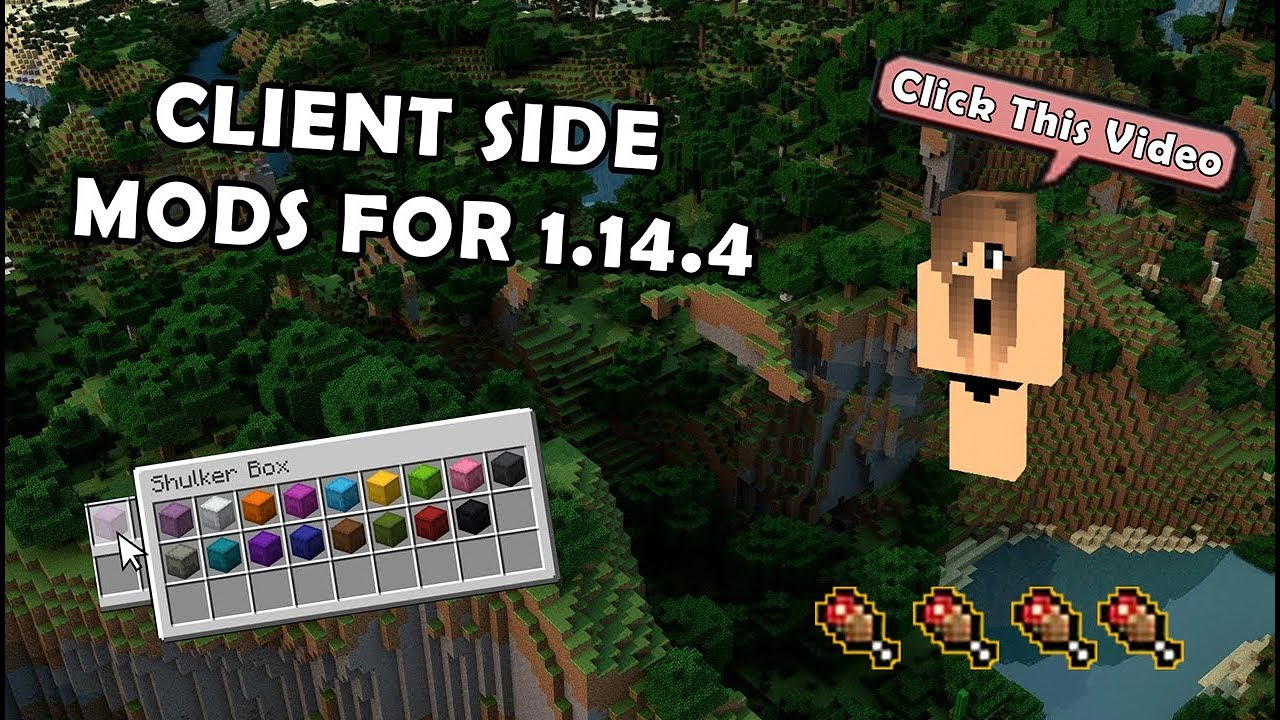 6 Client Side Mods You Need To Install Minecraft 1 14 4 2019 Youtube