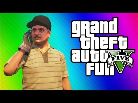 GTA 5 Funny Moments 4  Doughnuts, Carlos, Angry People, Blimp Vs Train, Jesus GTA 5 Gameplay