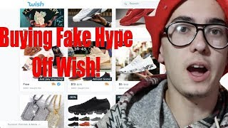 Buying Fake Hype Off Wish! (Yeezy, Ice, Gucci)