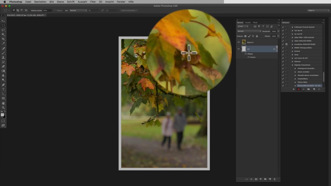 Rahmen für digitale Fotos – Photoshop Aktion selber machen - YouTube