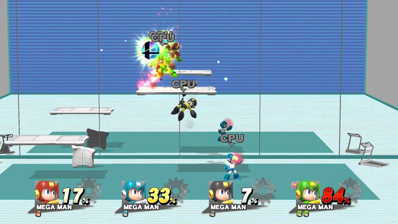 Super smash bros for wii u 4 player cpu match all mega for Super studio