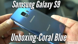 Samsung Galaxy S9 Unboxing Coral Blue T-Mobile
