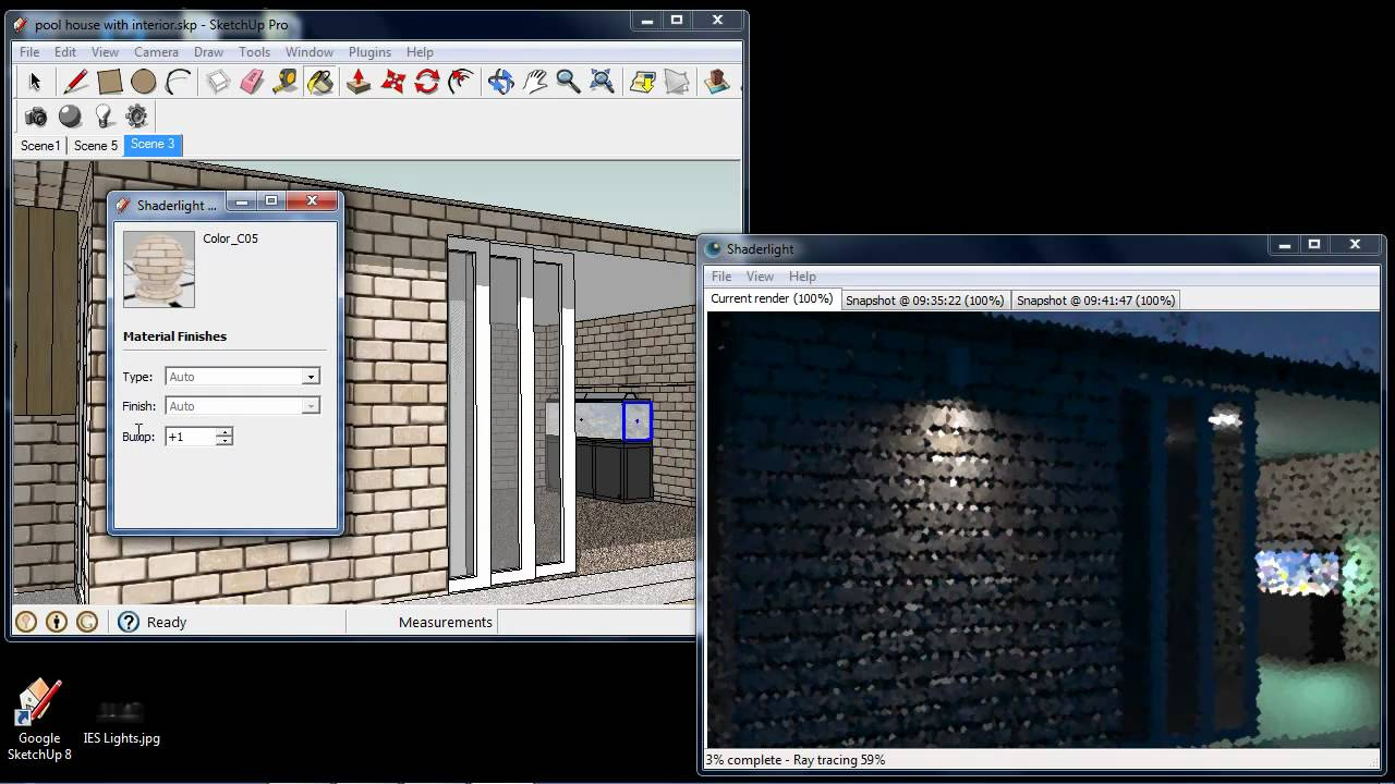 shaderlight for sketchup demonstration of features youtube