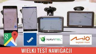Test nawigacji - Google Maps vs Here Maps vs Navitel vs Mio