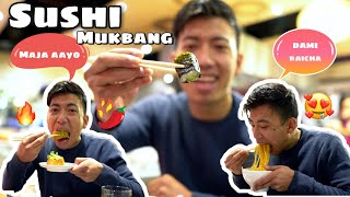 Sushi 🍣 Mukbang vlog   🛍 shopping   Cardiff visit  