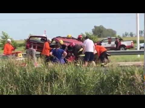 Un herido en un choque en la autopista a Córdoba