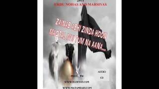 Adil Ahmed Karim 2011 Noha: Zainab Abhi Zinda Hoon