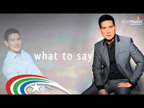 Richard Yap - Don't Know What To Do, Don't Know What To Say (Lyrics)