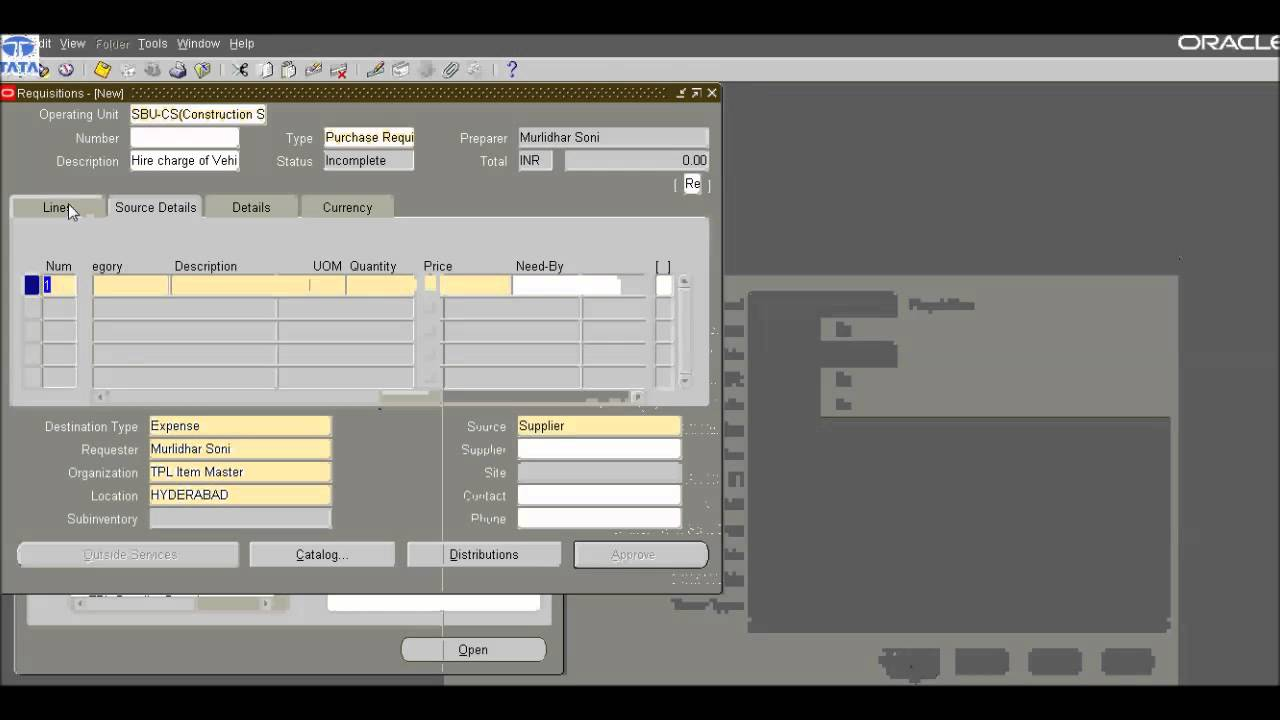 How to raise Purchase Requisition in Oracle ERP - YouTube