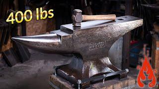 Blacksmithing - Mounting my 400 lb anvil